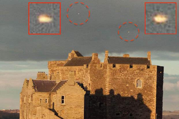 Снимок очевидца НЛО у замка вблизи Боннибридж