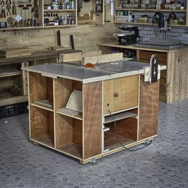 Домашняя пилорама и фрезерный стол (полный проект и чертежи)