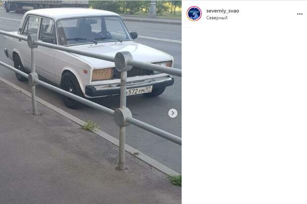 Фото дня: фара из подручных средств на машине в Северном