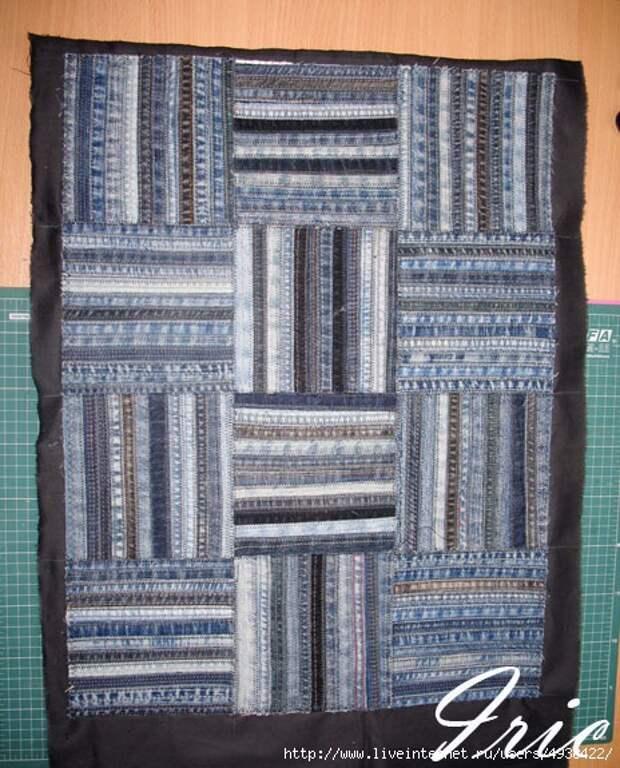 Сумка и коврики из джинсовых швов  своими руками