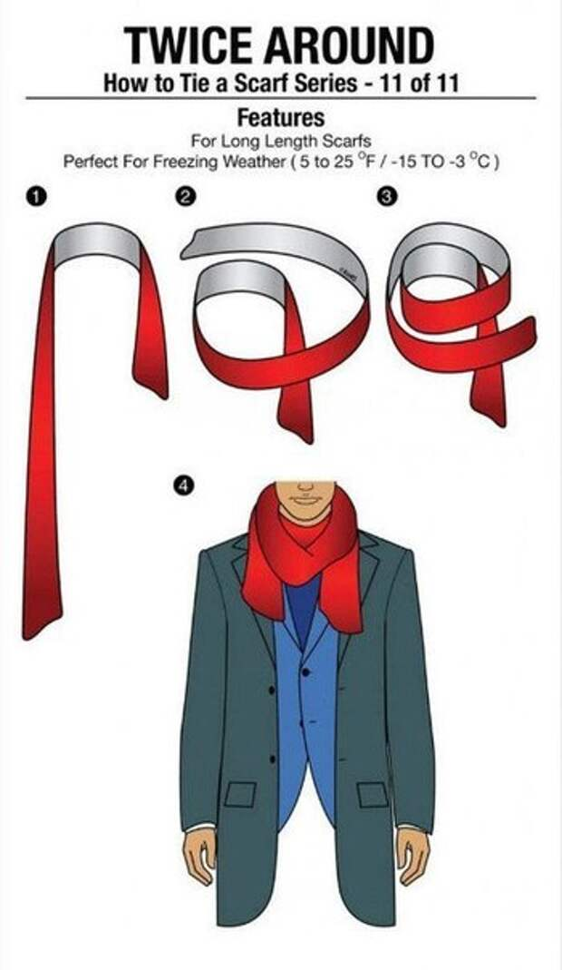 10 способов как красиво и оригинально завязать шарф