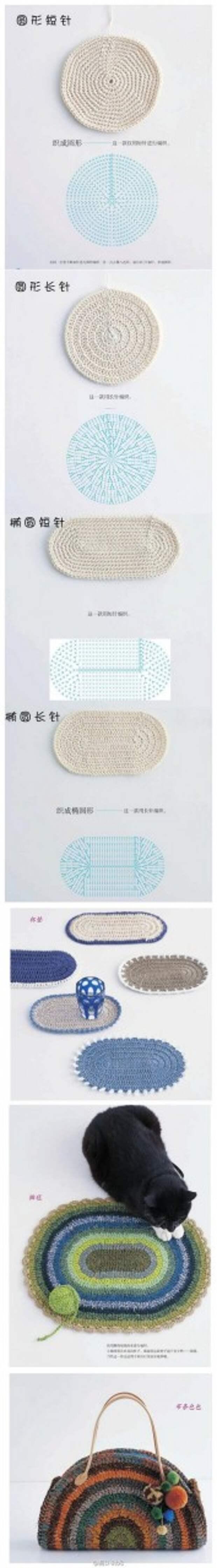 схема для вязания из старых футболок