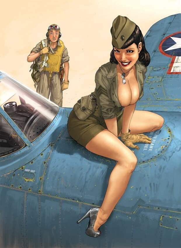 Девушки и самолёты