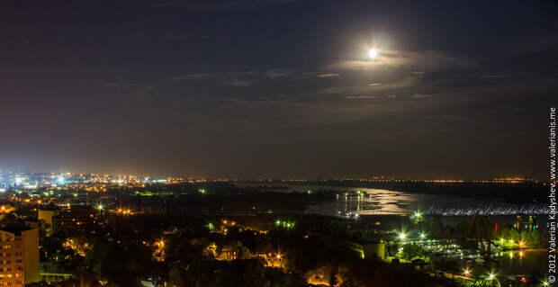 Самара ночью город ночью, самара