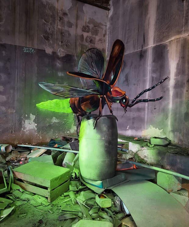 Гиперреалистичные уличные 3D-граффити от Серджио Одейта