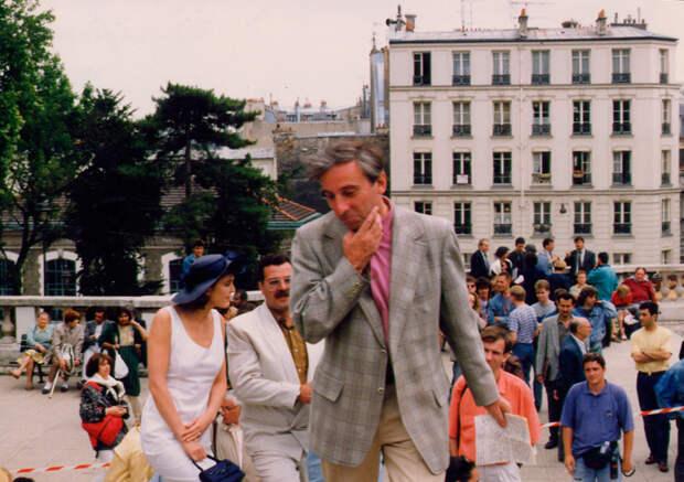Фотографии со съёмочной площадки фильма «Окно в Париж».
