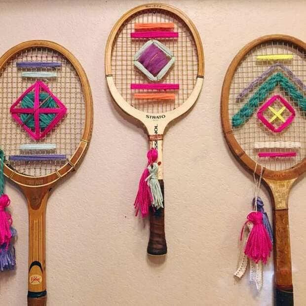 Вышивки на теннисных ракетках