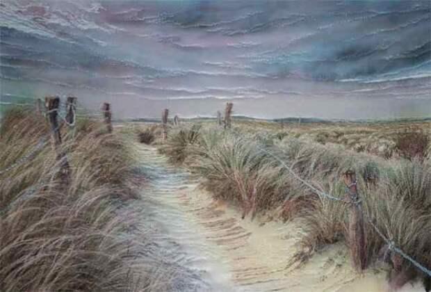 Вышитые пейзажи Jill Draper (трафик)