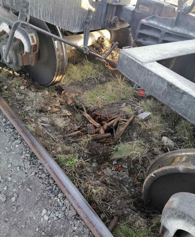 ВКурганской области три вагона сошли срельсов из-за гнилых шпал