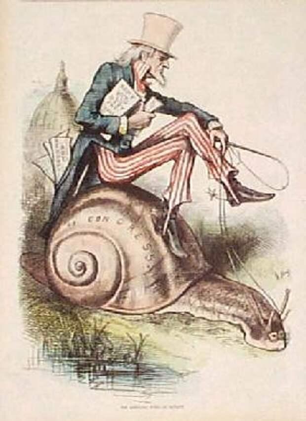 Дядя Сэм в политической карикатуре. Томас Наст, 1877 год.jpg