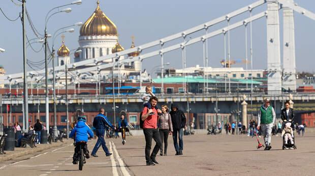 В Москве 17 апреля ожидается теплая погода