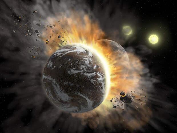 Ученые обнаружили столкновение двух экзопланет
