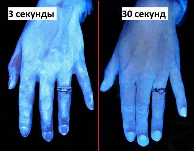 Смотрите и ужасайтесь. Как на самом деле выглядят ваши руки после мытья