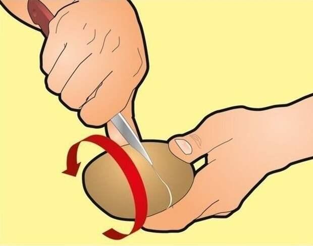 Как очистить вареный картофель за несколько секунд? Это проще простого