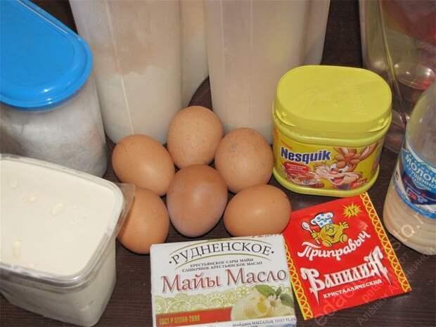 ингредиенты для торта Дамские пальчики