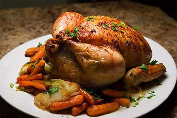 Запекаем курицу целиком: легко и непринужденно
