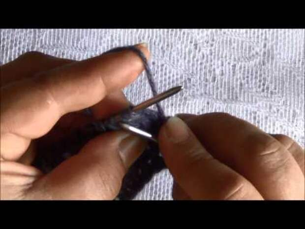 Ажурный узор спицами - видео