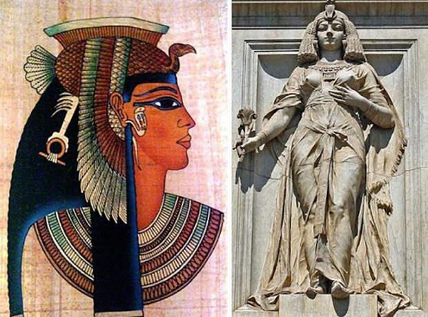 Изображения легендарной царицы Клеопатры.
