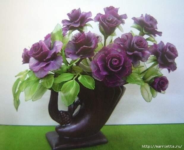Розы из капрона. Красивые идеи и мастер-класс (45) (550x451, 148Kb)