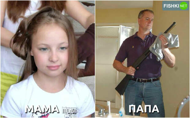 Родители помогают дочке готовиться к первому свиданию