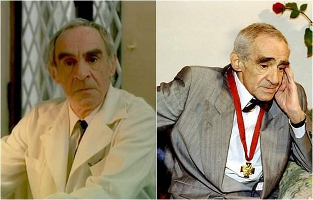 Народный артист СССР сыграл небольшую, но запоминающуюся роль врача.