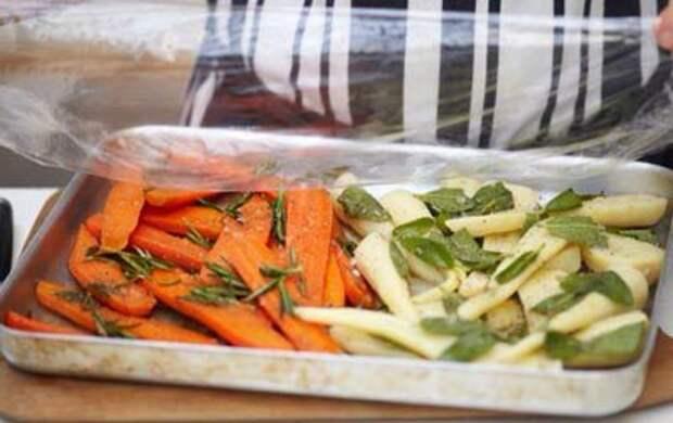 Рождество с Джейми — 3 этап — Жареные овощи