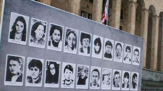 Фото жертв трагедии 9 апреля 1989 года (в основном женщины) в Тбилиси. Фото: © wikipedia.org