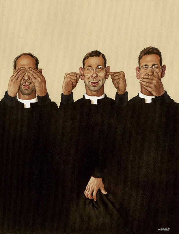 Геенна огненная: 30 абсурдных и честных иллюстраций о болезнях современного общества.