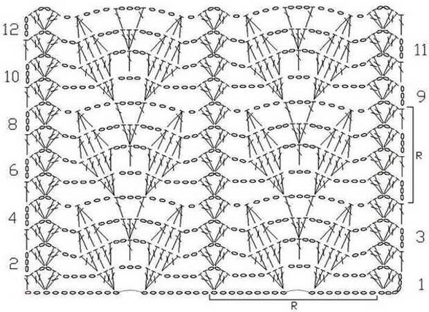 В копилочку подборка узоров для вязания крючком со схемами