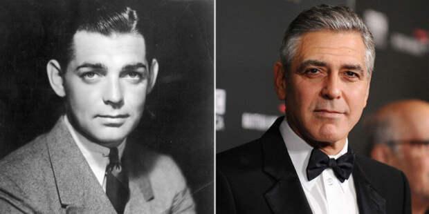Кларк Гейбл и Джордж Клуни.