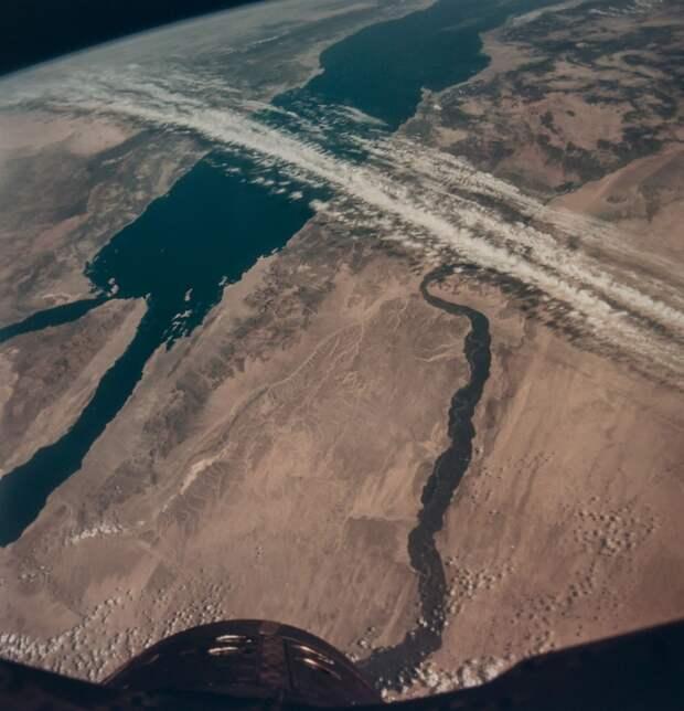 1966, ноябрь.  Египет и Синай из космоса. Джемини-12