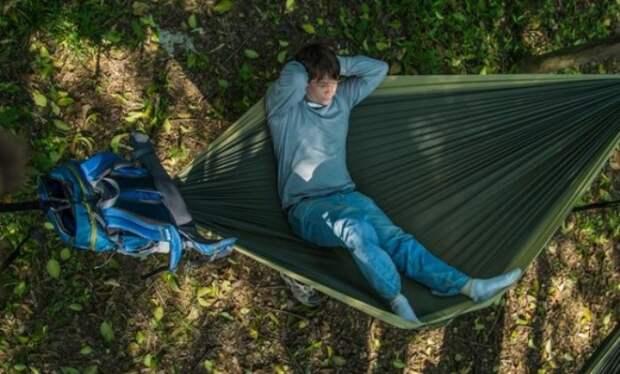 Гамак-рюкзак: вздремните в пути