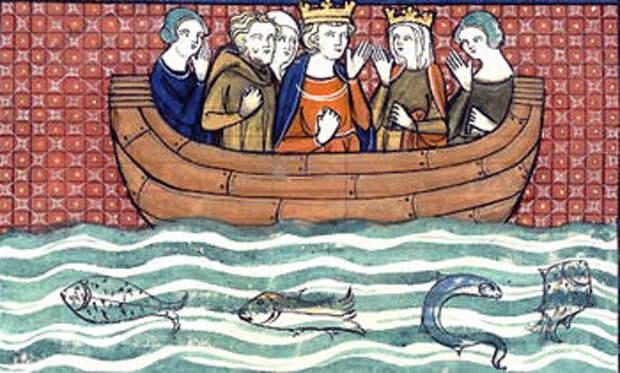 Ричард и Беренгария на пути из Кипра в Святую Землю (1337) - Беренгария Наваррская