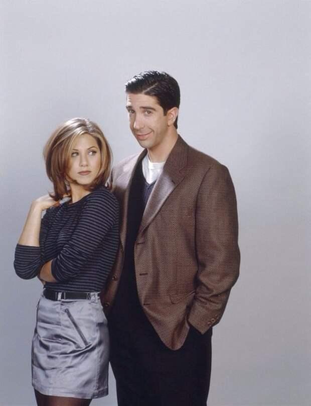 Дженнифер Энистон и Дэвид Швиммер, 1994 год.