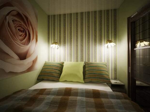 Спальня без окон дизайн, цвет стен