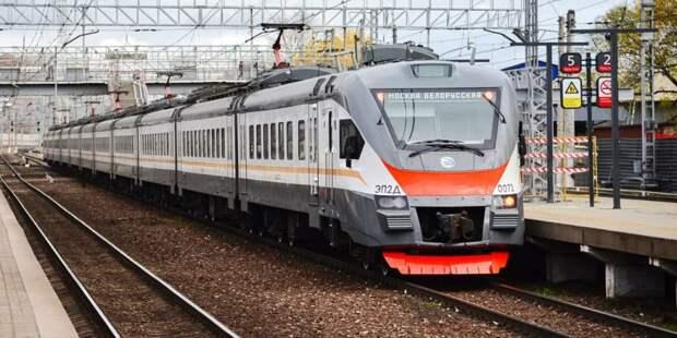 Собянин: Создание МЦД-4 является крупнейшей железнодорожной стройкой Москвы. Фото: Ю.Иванко, mos.ru