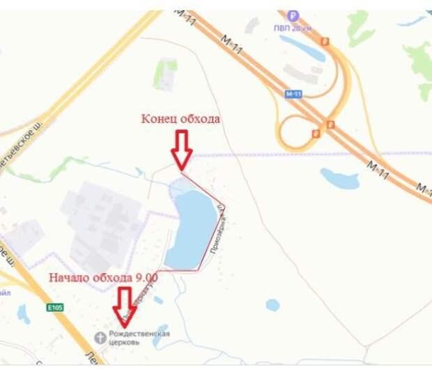 Субботний обход в Молжаниновском пройдет по Приозерной