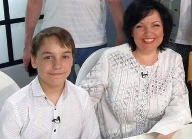 Светлана Рерих с сыном Даниилом