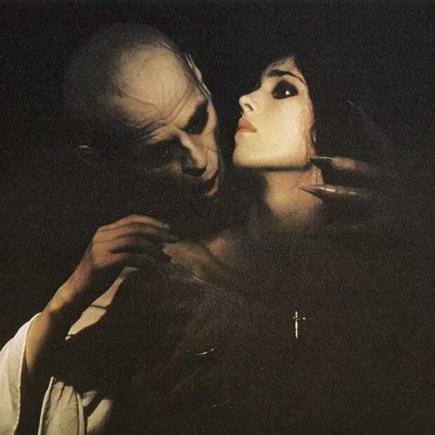 Изабель Аджани на съёмках фильма «Носферату: Призрак ночи» (1979).