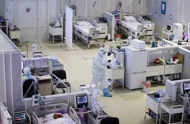 Фото дня: временный госпиталь для пациентов с коронавирусом в Москве