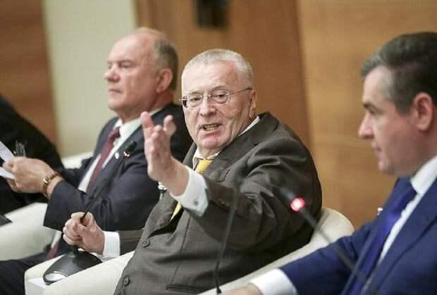 Жириновский потребовал арестовать Зюганова, Прилепина и Миронова