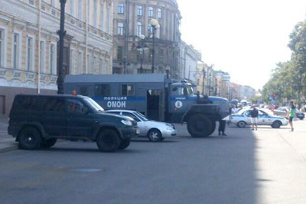 Полиция на Дворцовой площади, 2 августа 2015 года