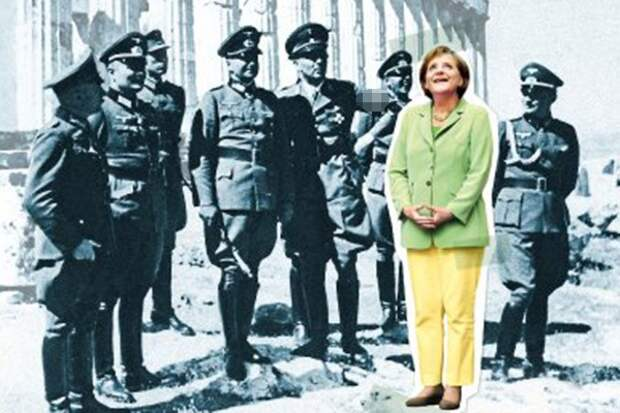 Spiegel опубликовал фото Ангелы Меркель с нацистами