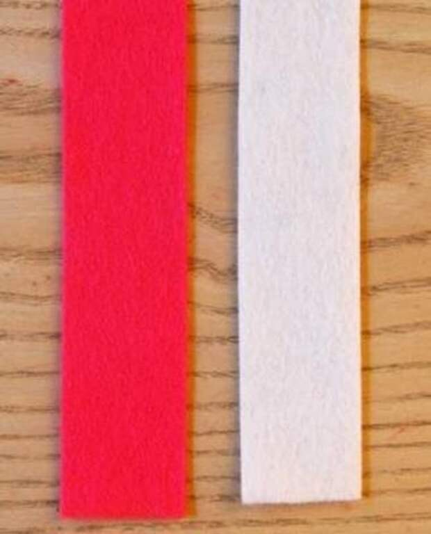 Новогодняя гирлянда из фетра Вариант. Как сделать новогодние игрушки из фетра своими руками