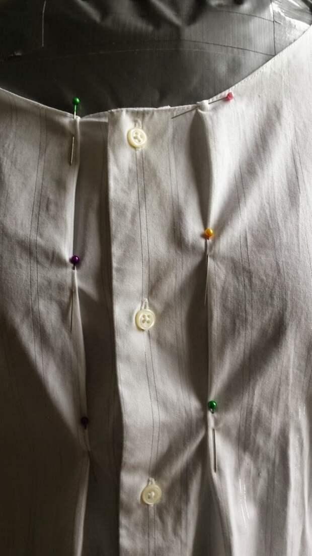 Мастер-класс как стильно перешить мужскую рубашку в тунику