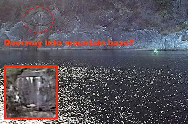 Туристы засняли странное зеленоватое существо на озере