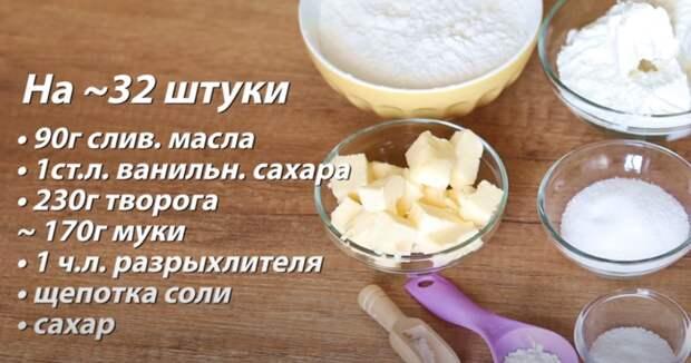 Быстрый и легкий рецепт творожной выпечки к чаю. Сахарные крендельки за 20 минут