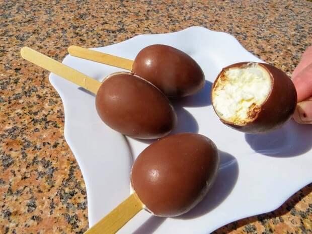 Домашнее эскимо на палочке Домашнее мороженое, Десерт, Готовим дома, Вкусно, Рецепт, Другая кухня, Шоколадное яйцо, Приготовление, Видео, Длиннопост