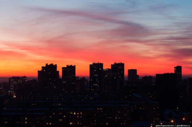 Зима в Новосибирске 2015. Красота городов России