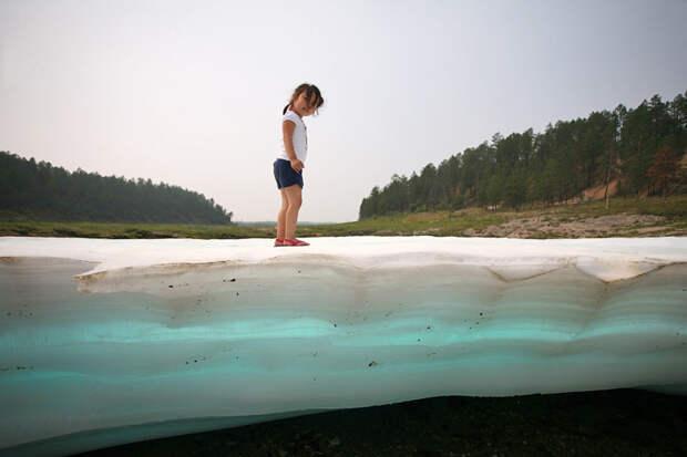 Ледяной пляж Булуус, всуществование которого сложно поверить